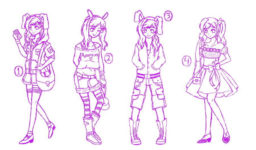 Many Outfits of Fionna the Human Girl SKETCH by ...