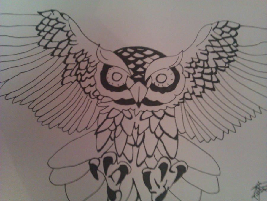 Owl Tattoo Sketches Owl tattoo design by