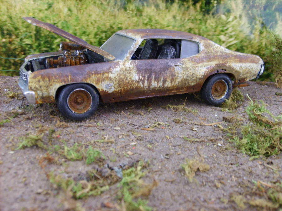 RUSTY CHEVY CHEVELLE DRAG CAR by rustyoldmodels on DeviantArt
