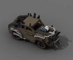 Mad max voxel car by gritsenkobiz