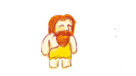 Another sketch of caveman by gritsenkobiz