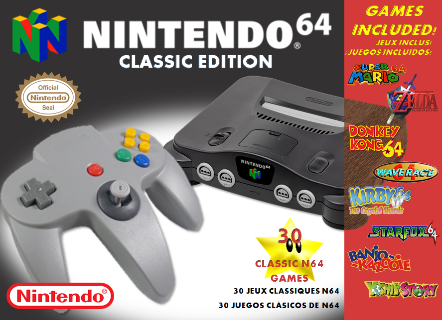 Nintendo 64 Classic Edition - Front Box by Oriali31 on ...