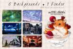 6 Backgrounds + 1 Render