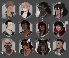 [Adopts] Busts | Flat | closed by skele-tea