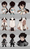 [Adopts] Chibis | Flat |closed by skele-tea