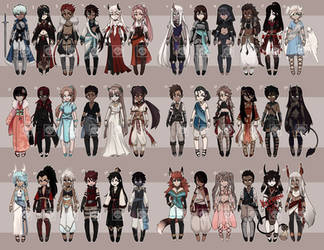 [Adopts] Chibis | Flat | OPEN by skele-tea