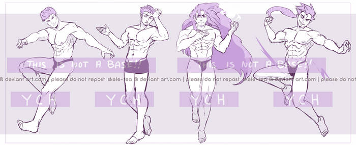 [YCH] Male Only | Auction | closed by skele-tea