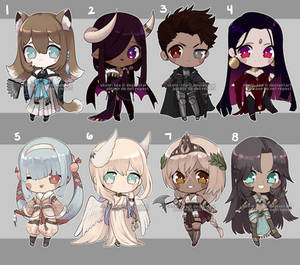 [Adopts] Chibis | Flat | closed
