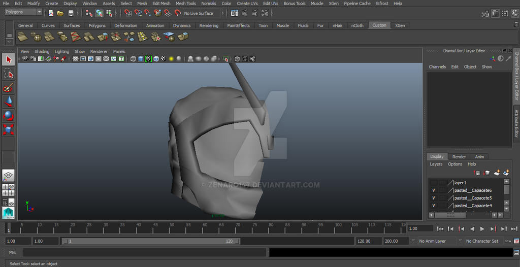 Fixing for the 3d Printer - Kamen Rider Mach by zenaro147