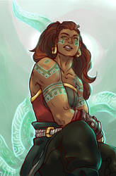 Leauge of Legends - illaoi by AllAroundSpaces