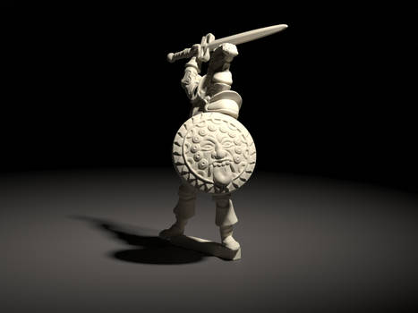 Adventurer - fighter/knight - DnD style miniature.