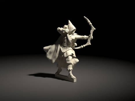 Adventurer - Elf - DnD style miniature.
