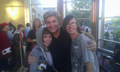 Me, My Friend Morgan and Vic Mignogna by XxGothic-AngelxX