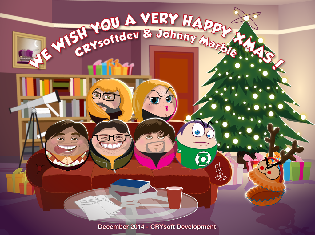 The Rolling Bang Theory X-mas Card by Frandali