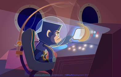 Space Travels are Boring! by Frandali