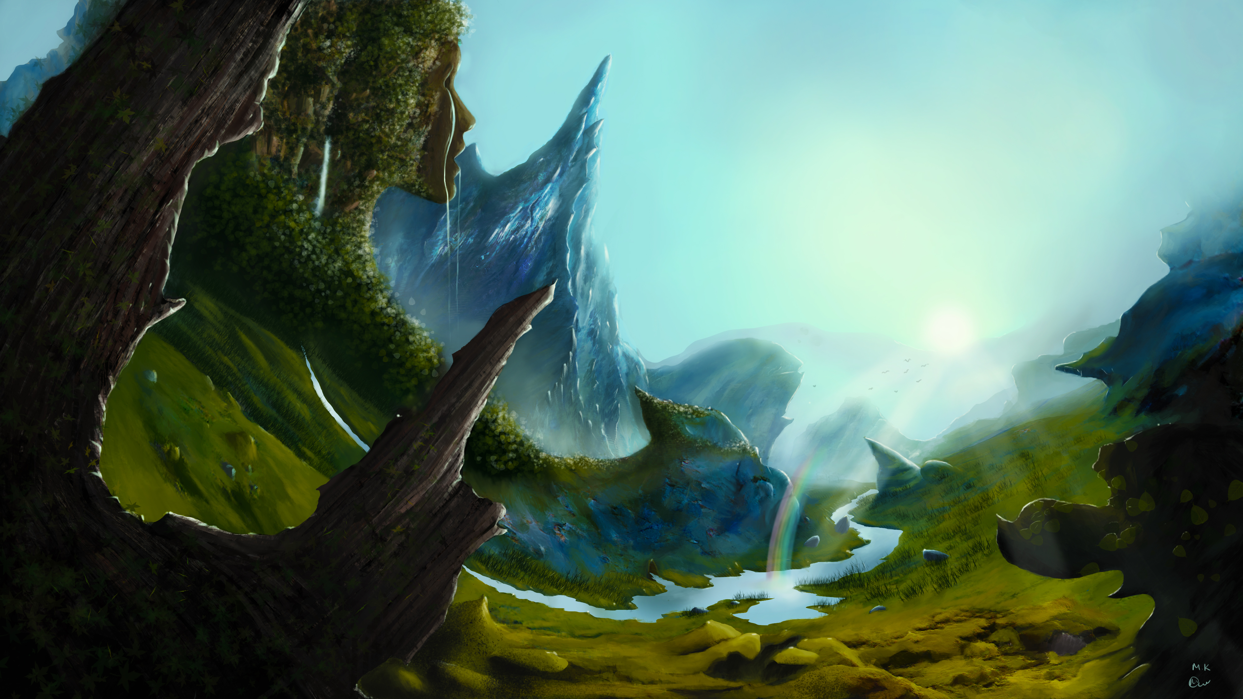 Fantasy landscape painting by Mantaskarciauskas on DeviantArt