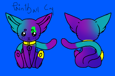 Paintball Cat by ThePoppymist