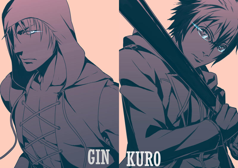 Guu - Gin and Kuro by Paleblood