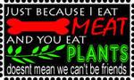 ' I eat Meat ' Stamp by WolvenRemorse