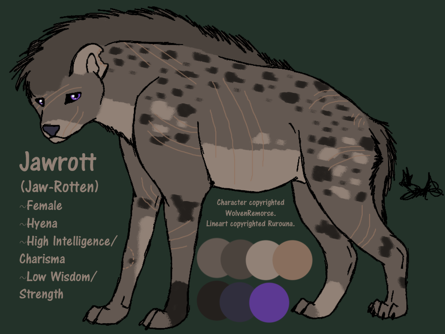 Jawrott Hyena by WolvenRemorse
