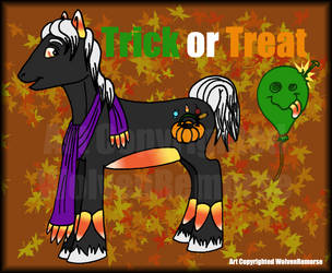Trick or Treat-October Pony by WolvenRemorse