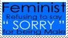 Feminist Stamp for Men by WolvenRemorse