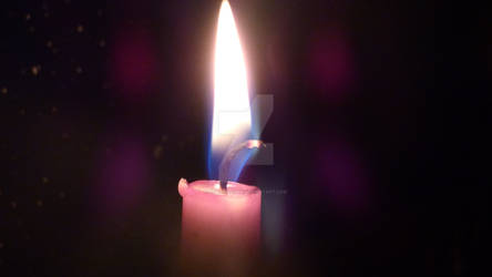 Macro photo of purple candle