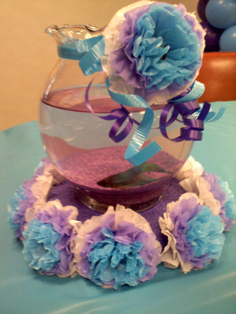 Swimming centerpiece by whimsysmile on deviantart for Beta fish centerpiece
