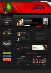 trax magazine website mockup