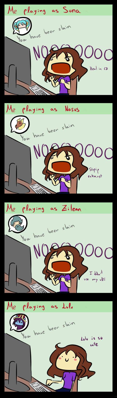 LoL- When I play as... by Albaharu