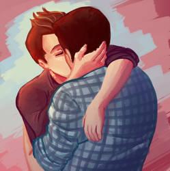 Glee- Kurtofsky kiss