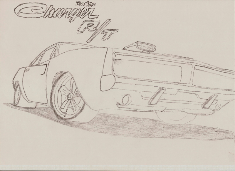 dodge charger drawing by jelluzz on deviantart. Black Bedroom Furniture Sets. Home Design Ideas