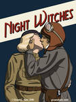 Night Witch Kiss Poster
