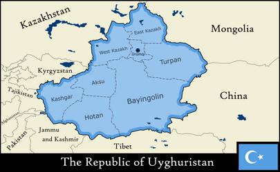 The Republic of Uyghuristan by xlander684