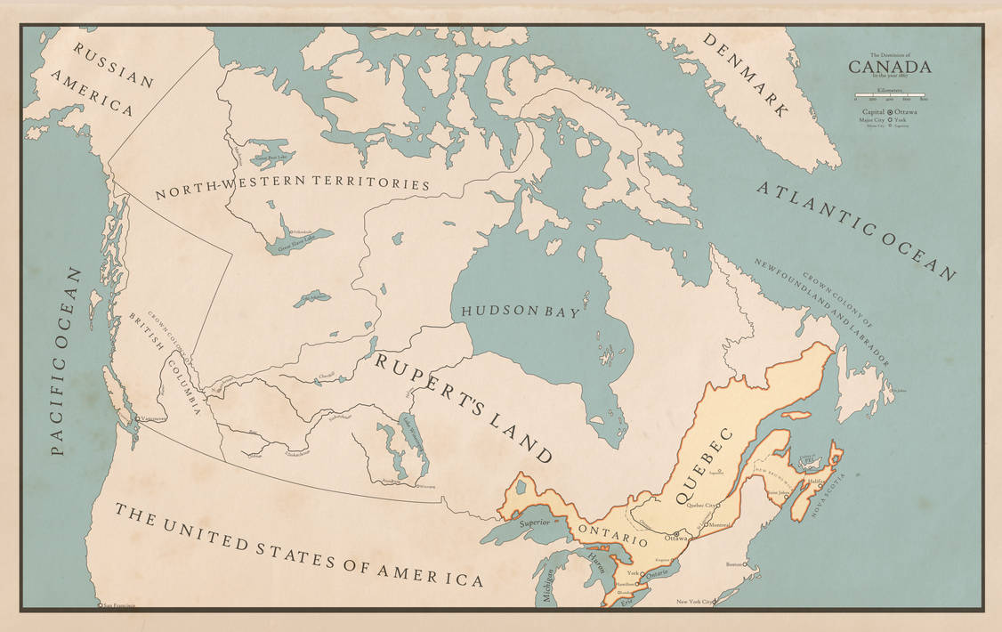 Map Of Canada During Confederation.The Dominion Of Canada At Confederation By Xlander684 On Deviantart