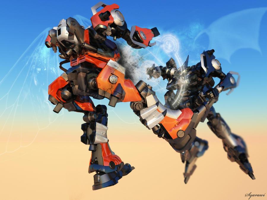 GIANT ROBOTS v2 by syarawi