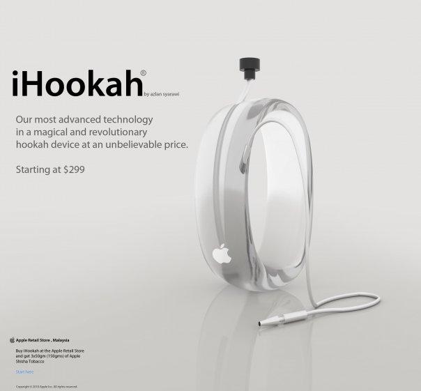 Apple iHookah , a concept art by syarawi