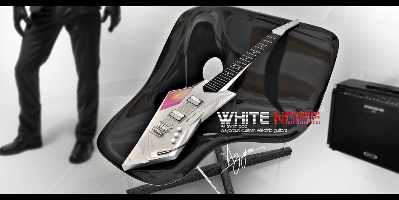 White NOISE custom guitar by syarawi