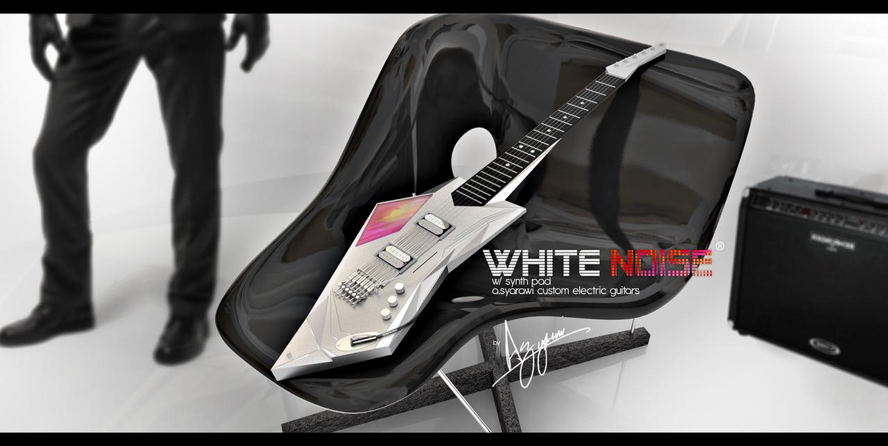White NOISE custom guitar by syarawi