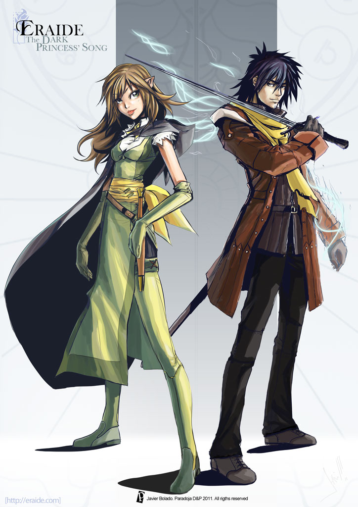 Eraide: Adriem and Eliel by javierbolado