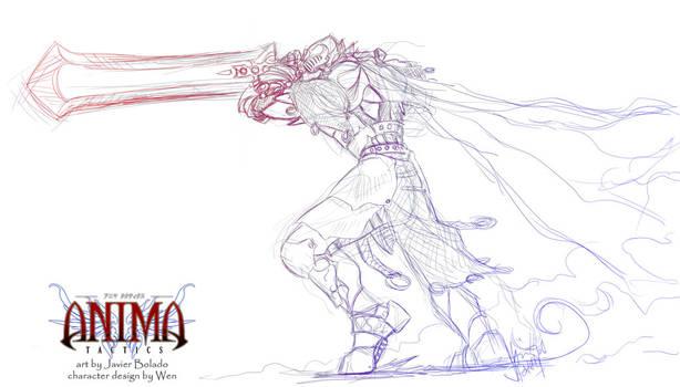 Anima: Knight miniature