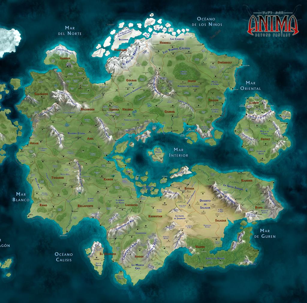 mapa gaia Anima: Mapa Gaia by javierbolado on DeviantArt mapa gaia