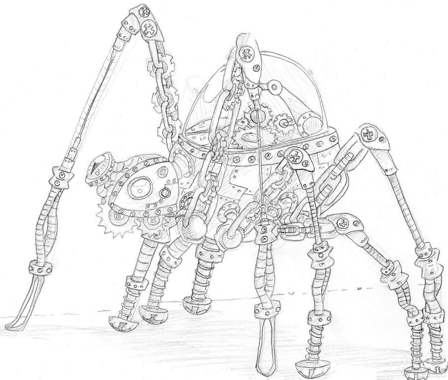 ~::Kallen'Dal Shirogane::~ Traditional_steampunk_spider_by_niyule-d5k2ha6