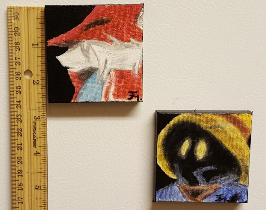 Vivi and Freya, magnets by Yafflynn