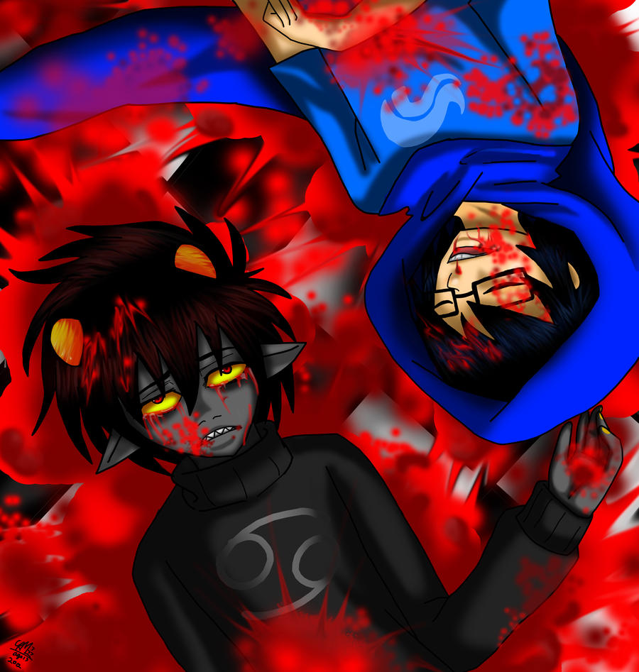 karkat and john 2 by Gresta-GraceM