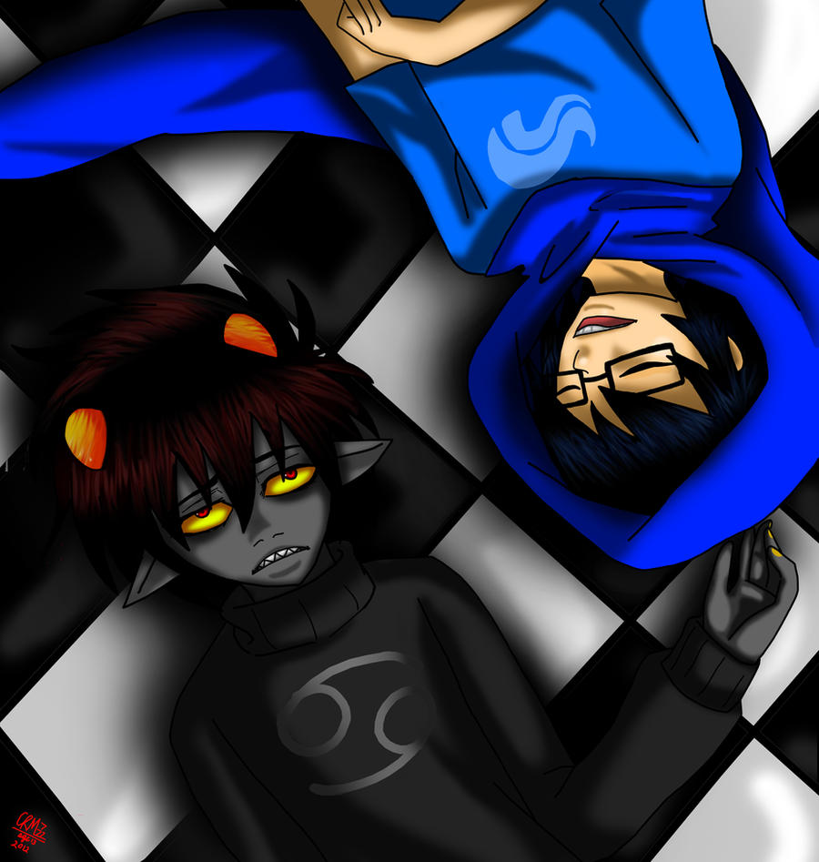 karkat and john 1 by Gresta-GraceM