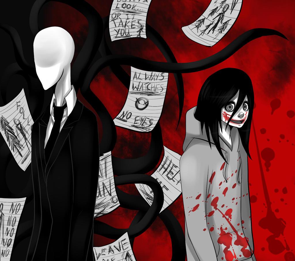jeff the killer and slender man by Gresta-GraceM on DeviantArt