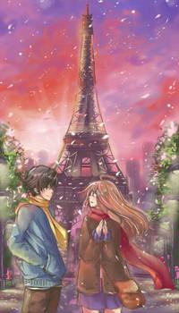 Art Collab - Sunset at Paris