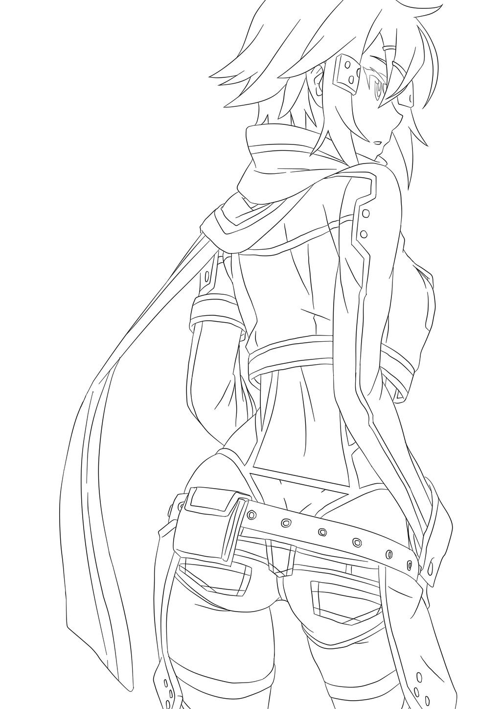 Sinon Sao Pages Coloring Pages