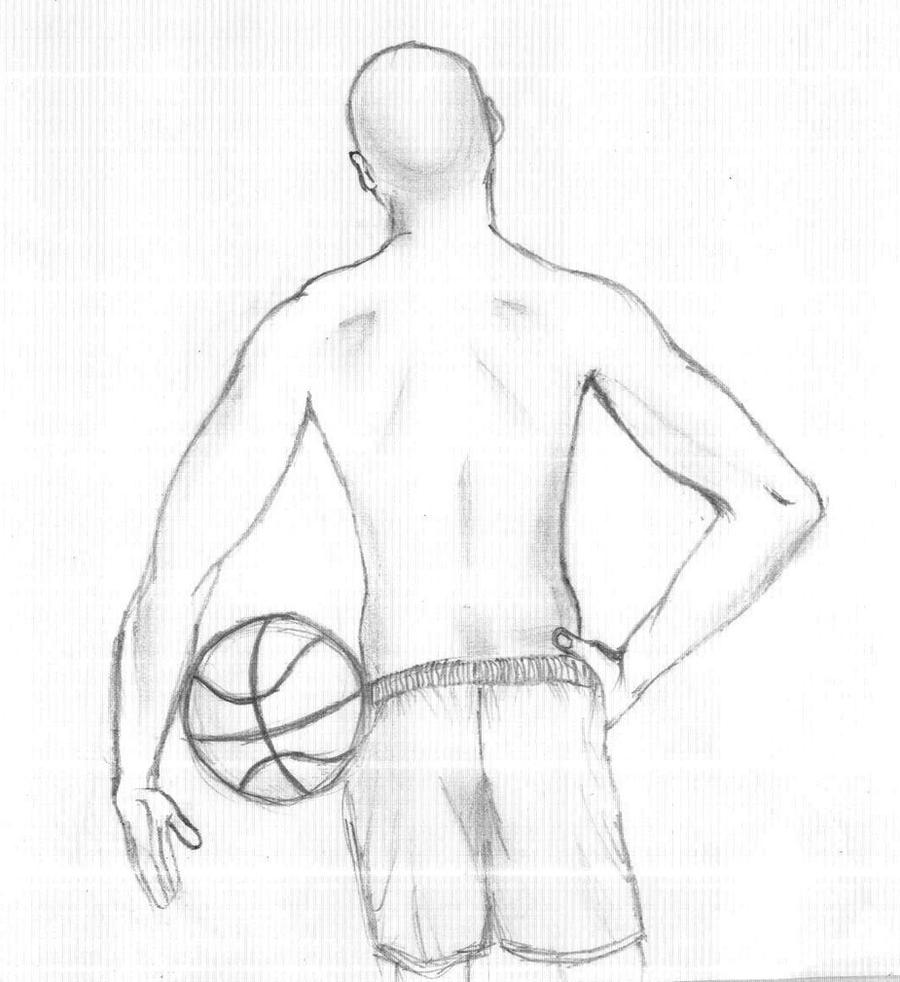 Uncategorized How To Draw A Basketball Player basketball player by krazygyal on deviantart krazygyal